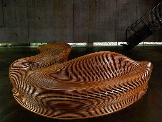 Wonderful Oak Curved Bench By Matthias Pliessnig   2 Idea