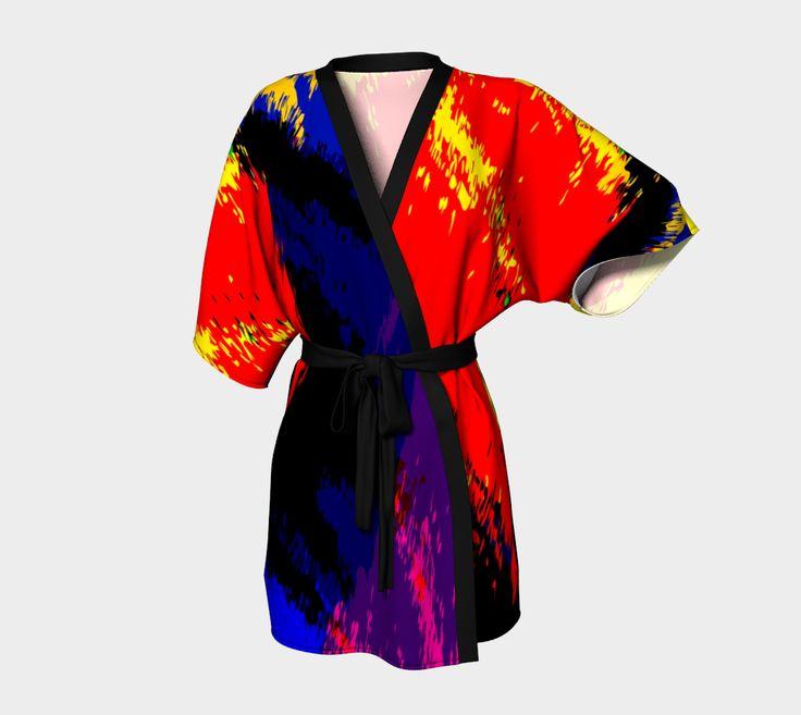 "Just Before Sleep Kimono Robe"" by Steel Graphics"