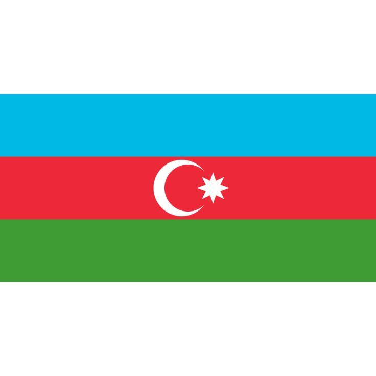 Tafelvlaggem Azerbeidzjan 10x15cm | Azerbeidzjaanse tafelvlag De vlag van Azerbeidzjan bestaat uit drie gelijke horizontale banden, een blauwe, een rode en een groene. In de rode baan staan een halve maan en een achtpuntige ster; dit naar het voorbeeld van de vlag van Turkije.