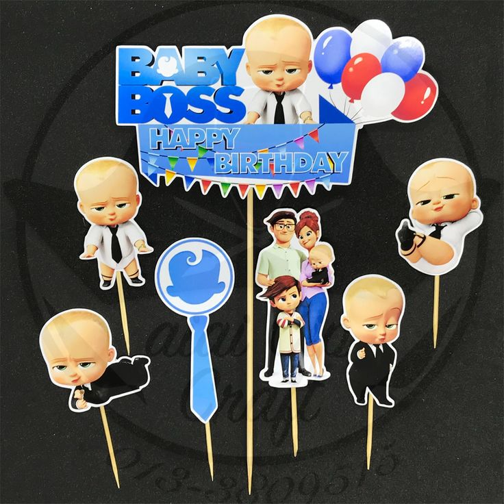 Baby boss cake topper template birthday cake toppers