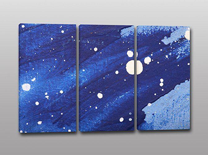 Quadro stampa su tela pittura astratta azzurro quadri for Amazon quadri moderni astratti