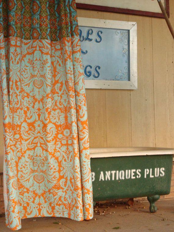 Love The Orange Fabric Curtains
