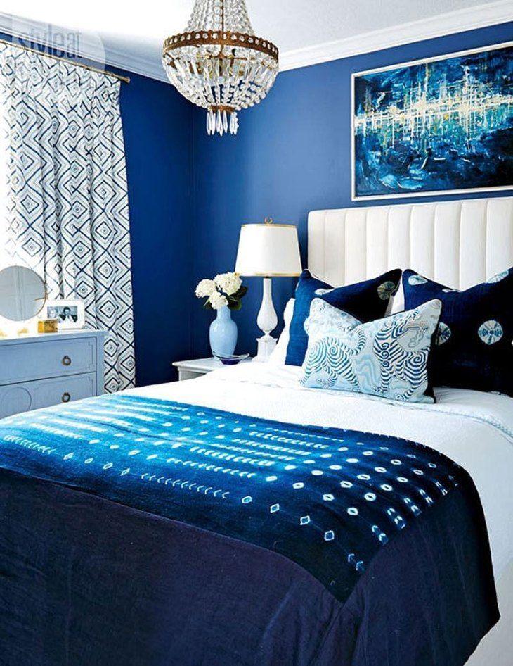 Beautiful Blue Bedrooms We Love Art Home Blue Bedroom Decor Blue Master Bedroom Blue Bedroom Walls