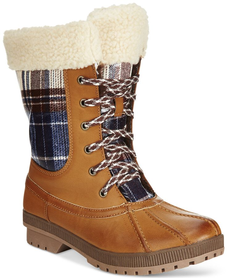 London Fog Women's Swanley Lace-Up Cold Weather Boots - Winter & Rain Boots - Shoes - Macy's