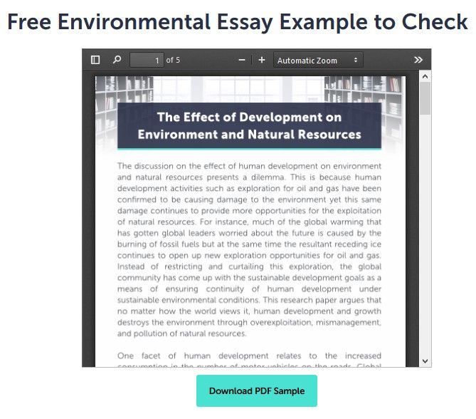 Environmental Issue Essay Topics American Government Topic