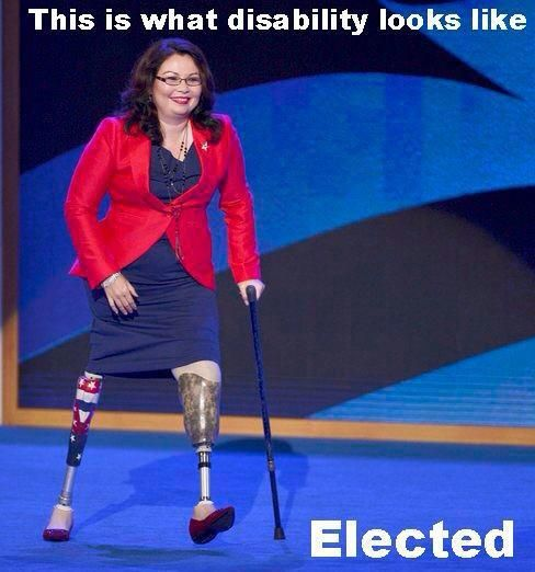 Tammy Duckworth, Iraq War Veteran, elected to represent the 8th Congressional District of Illinois.