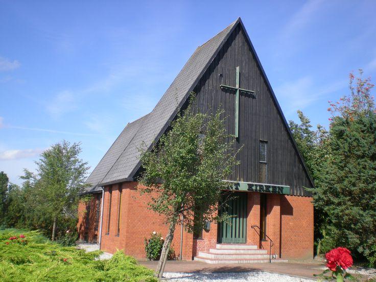 Adventskirken Jerslev, church in Jerslev, Denmark. Photo: Kurt Thorleif Jensen.