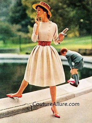 Betty Barclay 1960 Dress and Bolero Jacket. Adorable.....and does the tiny waist come with it?? ;-)