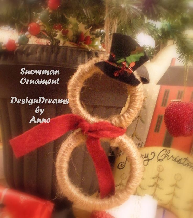 Learn how to make a canning lid snowman to add a creative new ornament to your Christmas tree this year.