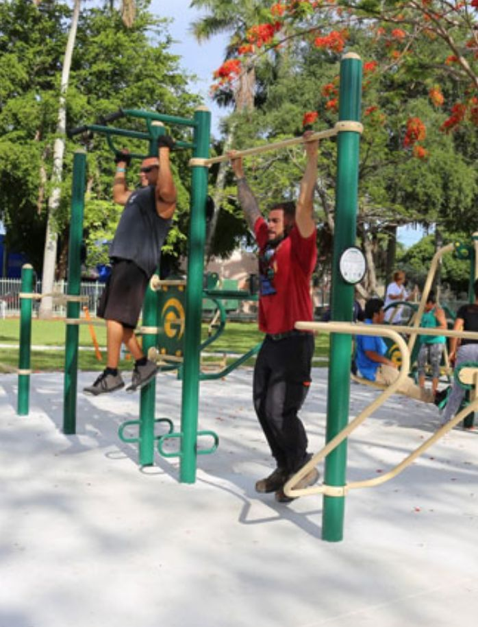 Incorporate outdoor fitness equipment into your community