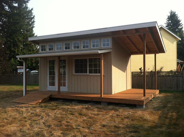 Slant Roof Style. Custom Built, Shed, Storage, Mother In Law Home,