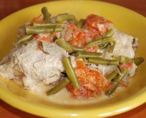 Kurczak z warzywami i śmietanką