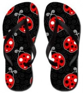 Fun Ladybug Flip Flops for the whole family