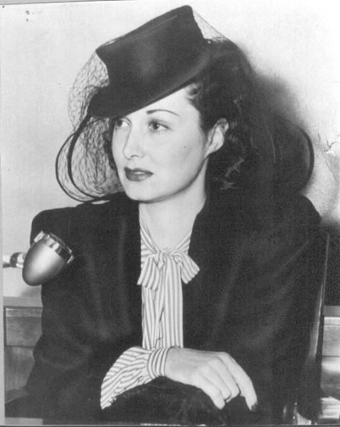 Gail Patrick at the time of her divorce from first husband Bob Cobb (owner of Hollywood's famous Brown Derby Restaurant), November 15, 1940.