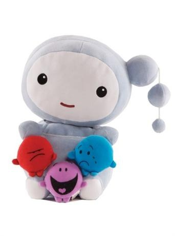 Kimochis - Cloud    Price: $49.95    Description:    Kimochis are so much more than a gorgeous stuffed animal!  They help to teach children about their feelings and how to manage them!    CLOUD™ is a bit unpredictable. One day he is happy, the next he is angry, and then next day - who knows, maybe sad or even happy again. Cloud™ lives in the big sky and loves to travel across the treetops paying visits to all his friends.