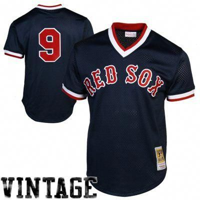 11261a5f9ef Mitchell   Ness Ted Williams Boston Red Sox 1990 Authentic Cooperstown  Collection Batting Practice Jersey - Navy Blue  baseballpractice
