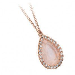 Bijuteria teilor: Colier cu diamante și cuarț roz