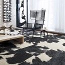 Buy Mod Cow-Black carpet tile by FLOR  www.WindsorInteriorDesign.com Interior Decorating and Design Online and in-person. Windsor, San Diego and Toronto.