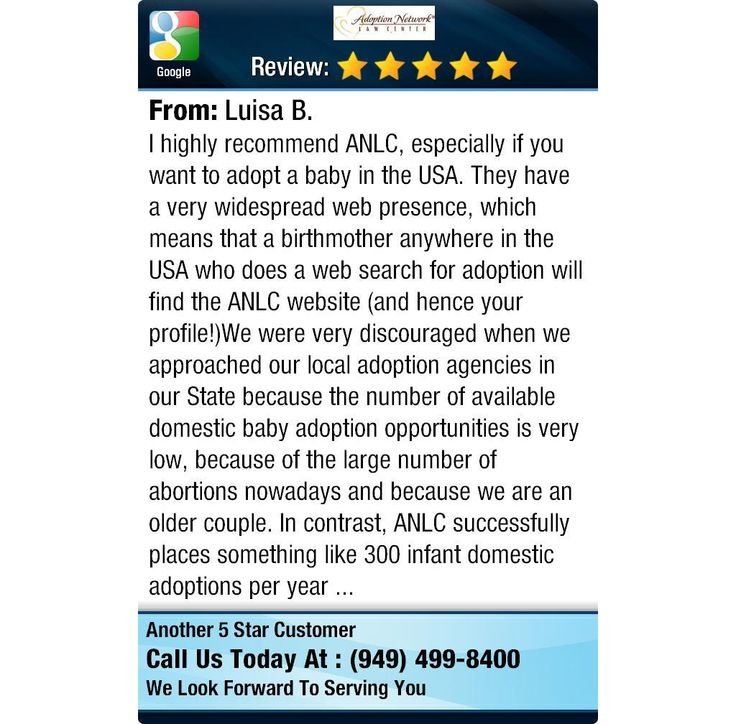 I highly recommend ANLC, especially if you want to adopt a baby in the USA. They have a...
