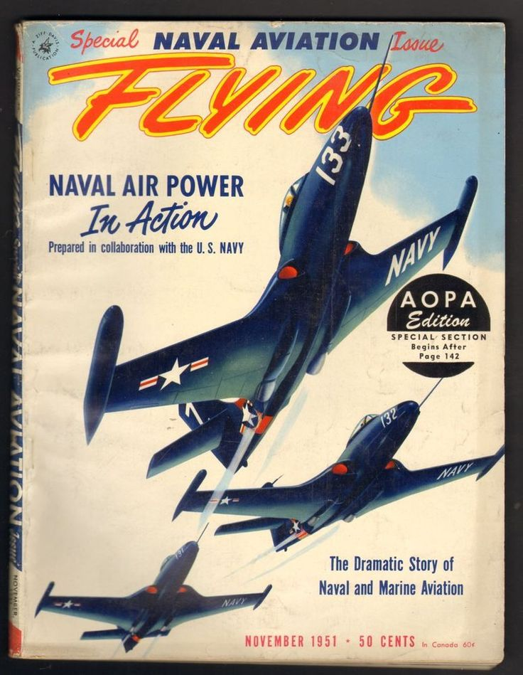 Flying Magazine November 1951 Special Naval Aviation Issue Naval Air Power