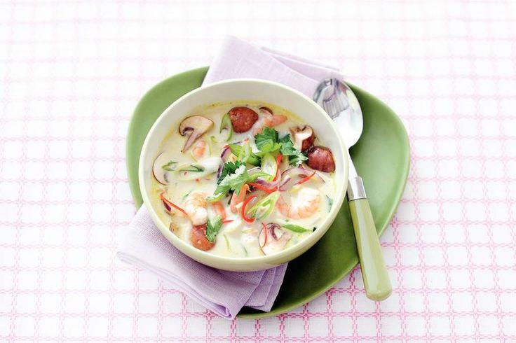 Thaise kokos-garnalensoep - Recept - Allerhande