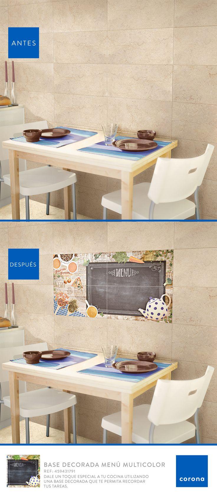 Base decoradora para cocina, perfecta para recordar tareas y pendientes. Pruébala en tu hogar.