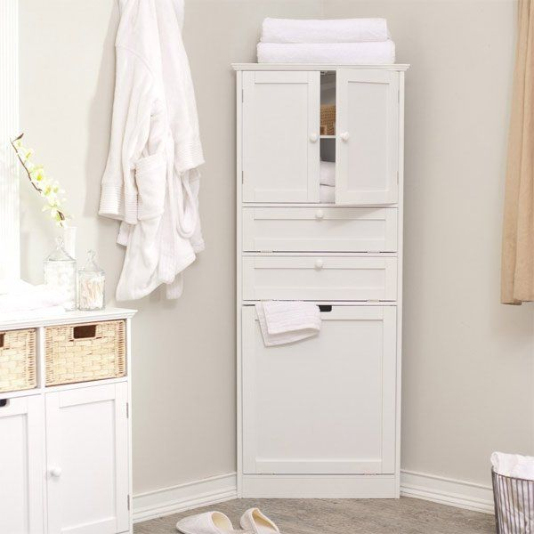 20 Corner Cabinets To Make A Clutterfree Bathroom Space Home Design Lover Corner Storage Cabinet Bathroom Corner Cabinet Corner Linen Cabinet