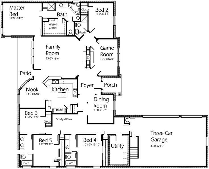 A Plan That Includes Everything Even A Games Room Possible