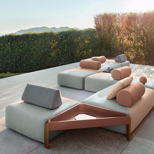 Modular sofa / contemporary / outdoor / fabric BRIXX COLLECTION by Lorenza Bozzoli DEDON