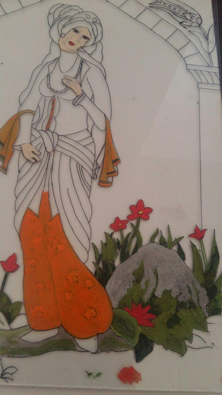 Neş'e TOPSAKAL. .Detail   Camaltı boyamam.. detay ..my work..handmade  underglass..glasspaint..