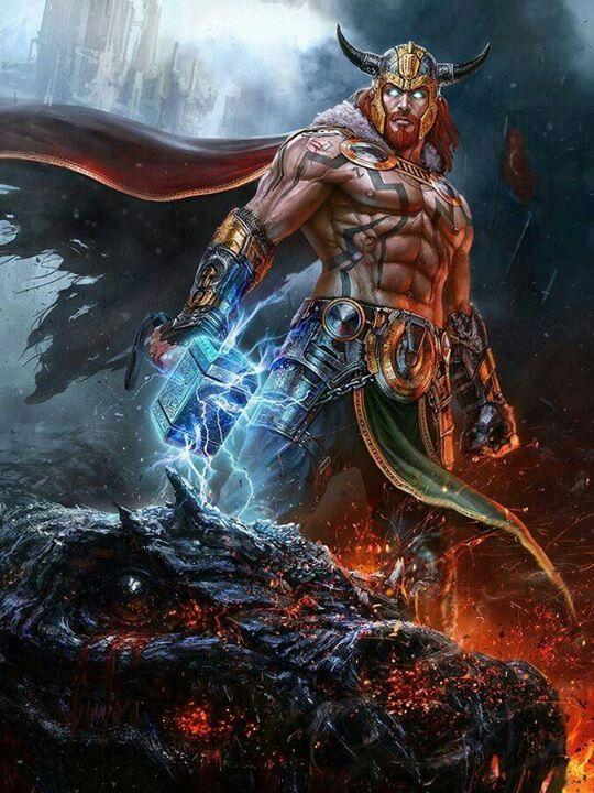 Thor.. es el dios del trueno en la mitología nórdica y germánica. Su papel es complejo ya que tenía influencia en áreas muy diferentes, tales como el clima, las cosechas, la protección, la consagración, la justicia, las Lidias, los viajes y las batallas Más