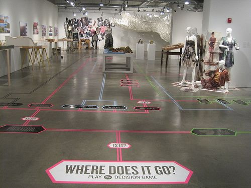 Interactive and navigational floor installation - Chose your own adventure style