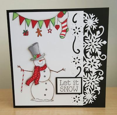 Crafters Companion snowflake die and Nordic Christmas stamp set
