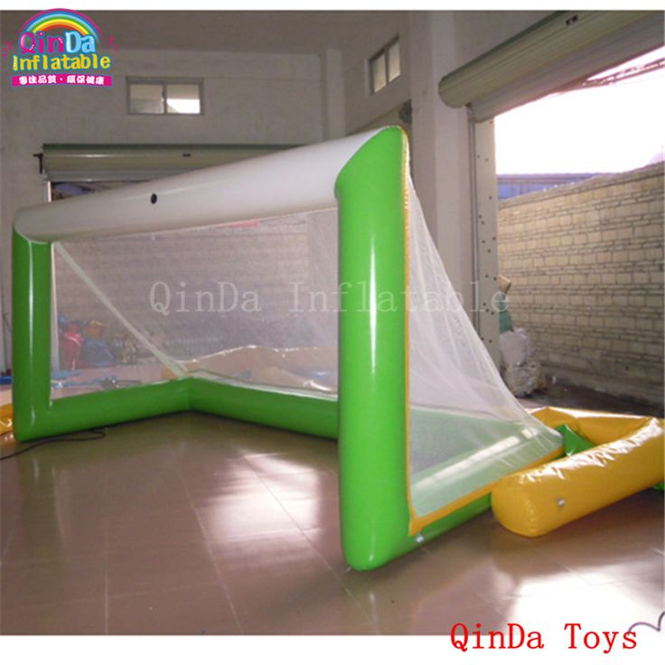 Great m inflatable pop up soccer goal for training water beach toys inflatable football gate for