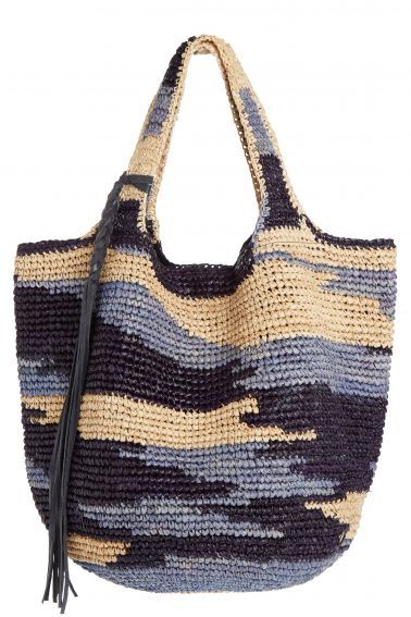 Abstract Raffia Barrio Tote