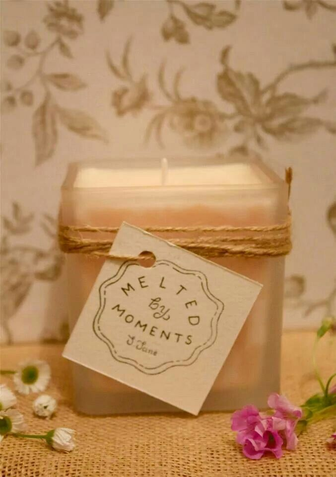 Lychee peony soy candle