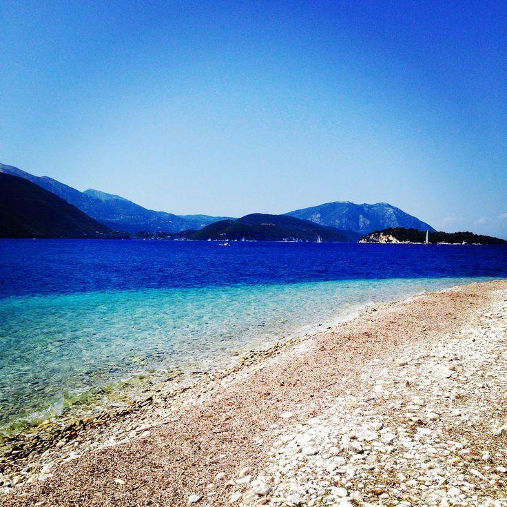 #greece #meganisi #island #beach #sea #sand #magic #colours #blue #green