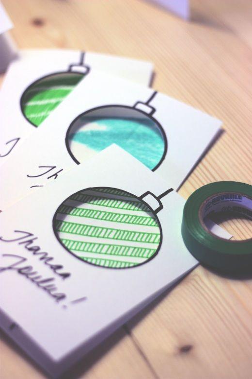 Ich liebe pinterest! So viele Ideen für meine Arbeit wie zum Beispiel diese simple Weihnachtskarte