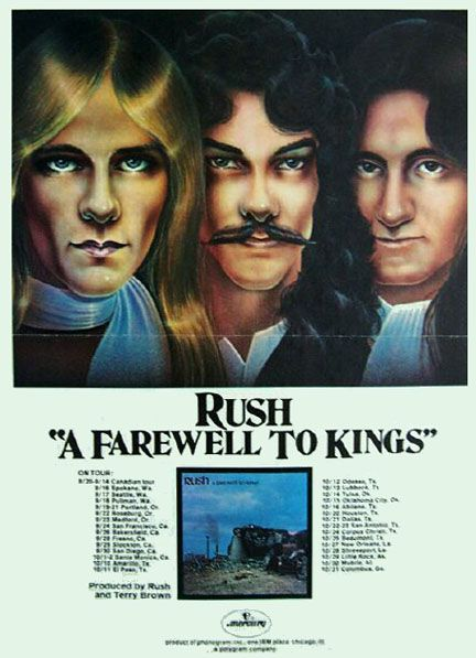 rush tour poster | these old marketing pieces for Rush's A Farewell to Kings tour ...