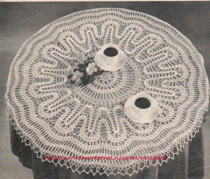 Мини-скатерть диаметр 77см схема (брюггское кружево) (700x598, 612Kb)