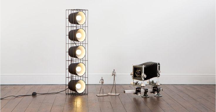 Ozzy Floor Lamp, Black | made.com