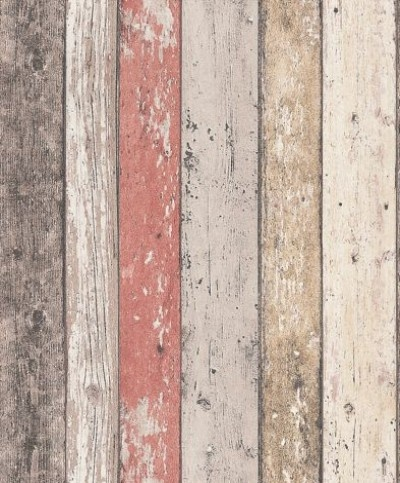 Wood Panelling from Albany (8951-27) - Brewers Wallpapers - Albany - a richly detailed Scandinavian panelled wood effect design - with the look of distressed and faded wood in pale natural colours.