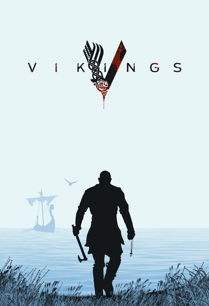 Affiche pour Vikings par a-fraga.com Illustration de la serie Vikings - poster…