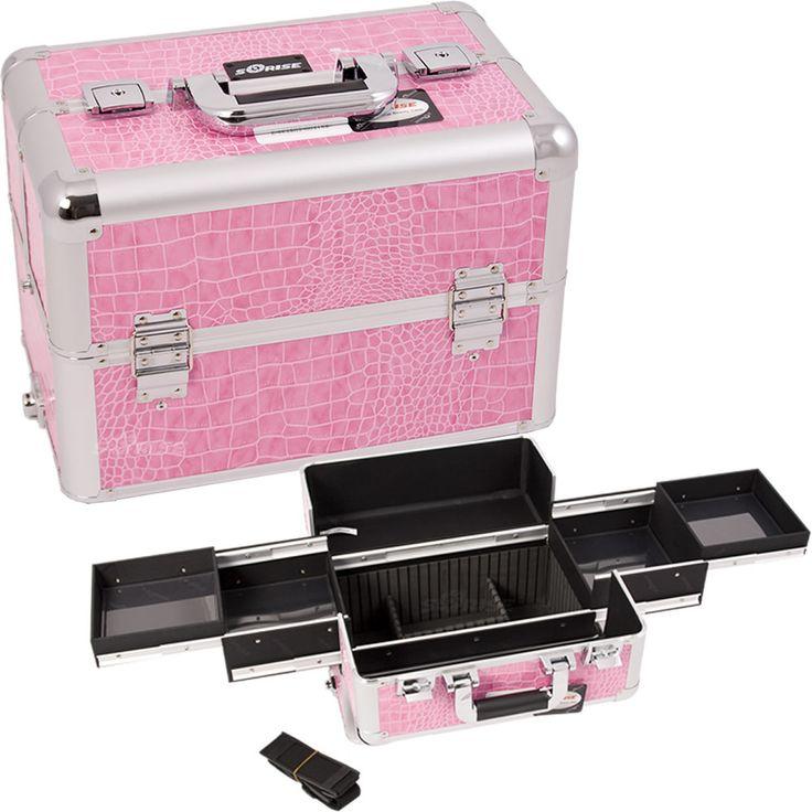 Pink Croc Pro Makeup Case - E3301 - salonhive.com
