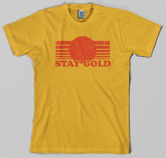 Alojarte oro T Shirt - pony boy, los forasteros, los años 80, película, película - t gráfico, todos los tamaños y colores