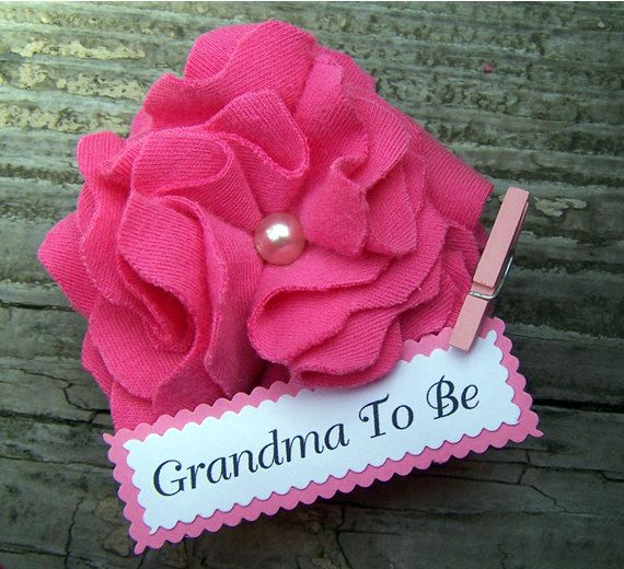 Personalized Grandma To Be Corsage Baby Shower by BloomingParty, $5.00