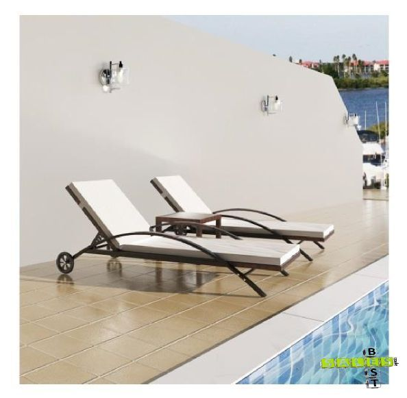 Quality Rattan Sunloungers and Table