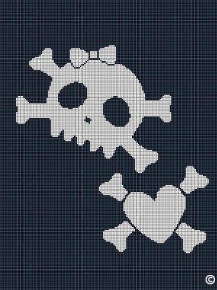 Crochet Skull And Crossbones Pattern Skull Crochet Pattern Easy