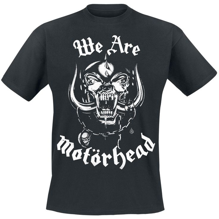 "Exclusive to EMP: ""We are Motörhead. And we play Rock'n'Roll"" - Motörhead also in the 21st century have a cult status which cannot be tamed. On the front of the black ""We Are Motörhead"" T-Shirt you can see the band mascot Snaggletooth. Above the image and below you can read ""We Are Motörhead""."