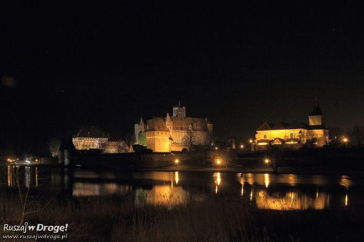 #Zamek w #Malborku nocą